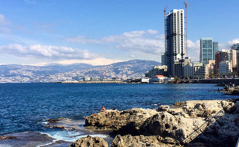 View of Beirut from the Corniche