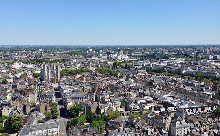 View of Nantes, France