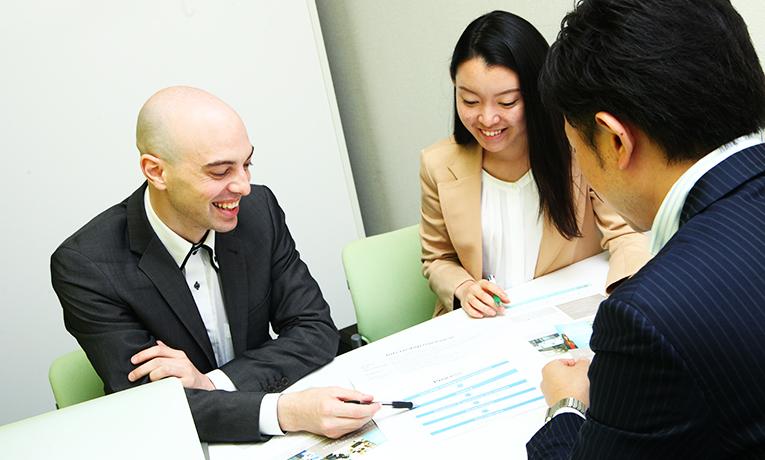 Business meeting in Japan
