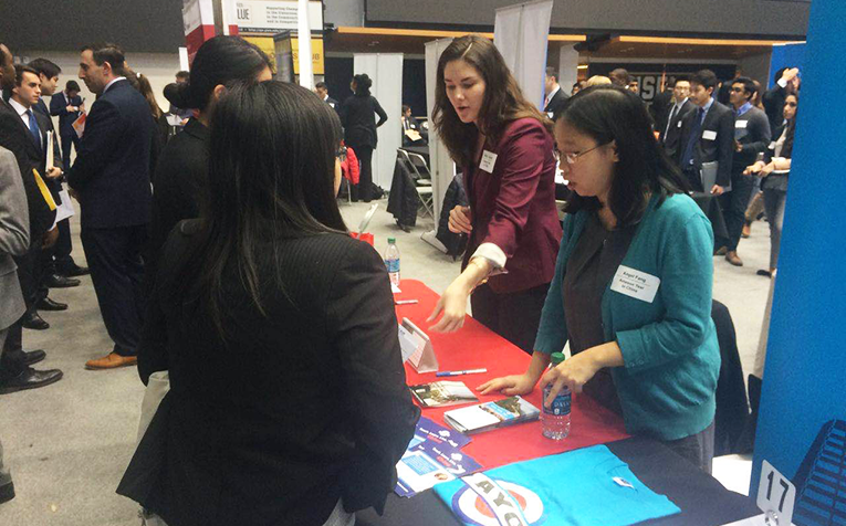 Ameson Foundation table at the George Washington University Spring Career and Internship Fair