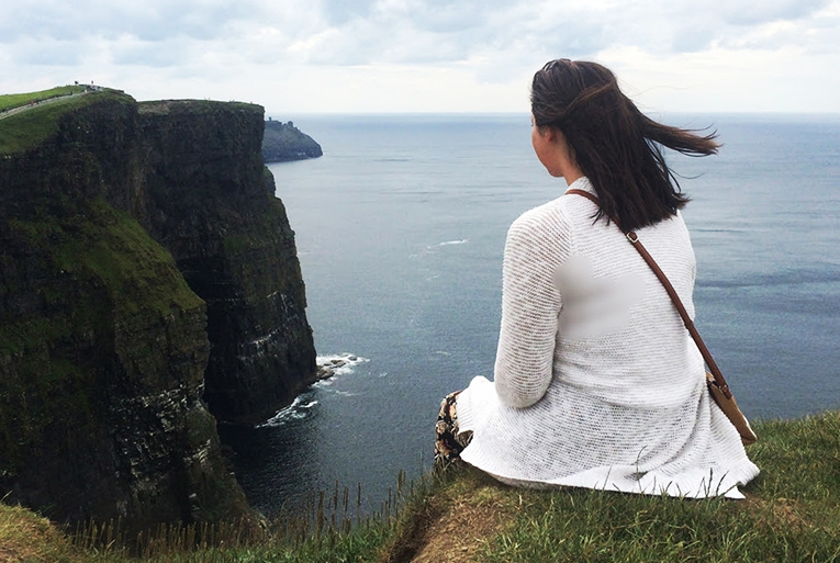 View of the Cliffs of Moher in Ireland