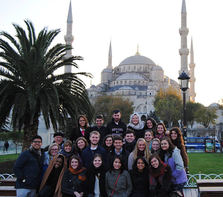 Visiting the Sultan Ahmed Mosque, Istanbul, Turkey