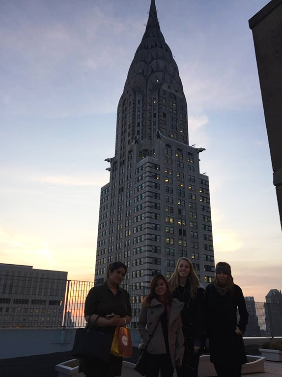 International interns at the Chrysler Building in New York City