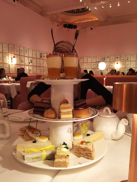 Afternoon tea spread in London England