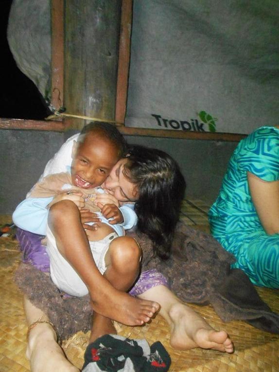 Volunteer with host brother in Fiji