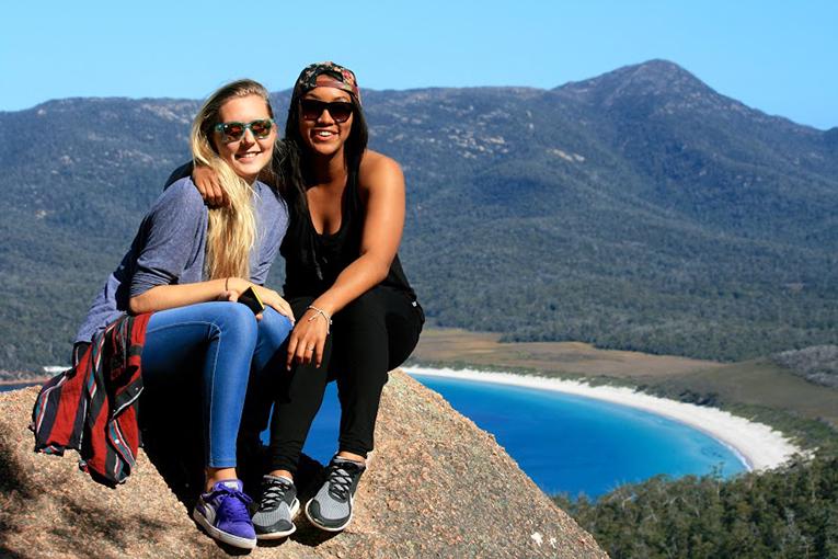 View of Wineglass bay, Tasmania