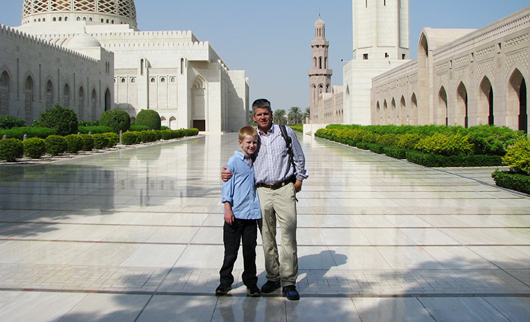 Father and son in Muscat, Oman