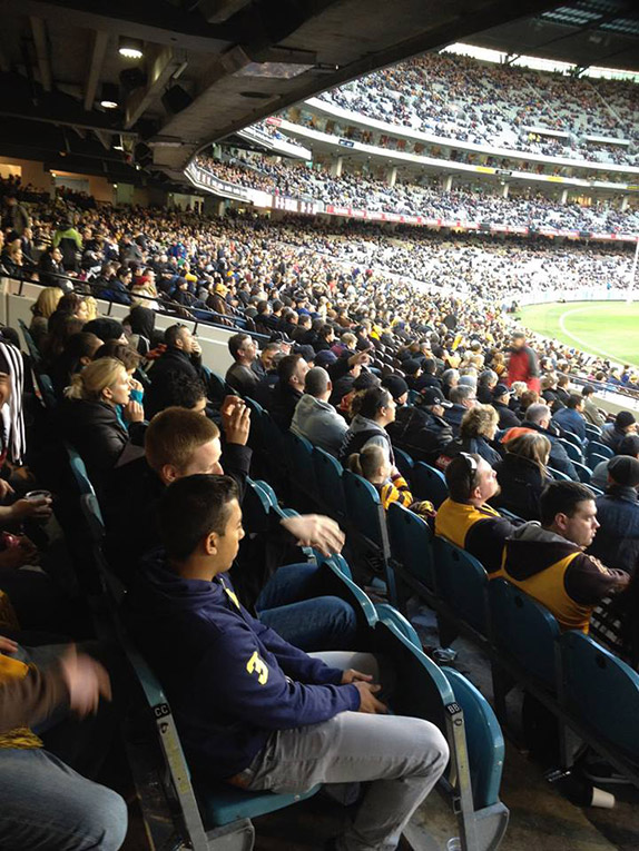 Fans at the Melbourne Cricket Ground in Australia