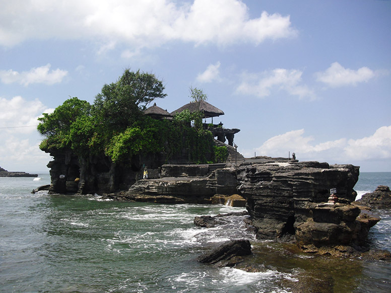 Tanah Lot Temple in Indonesia