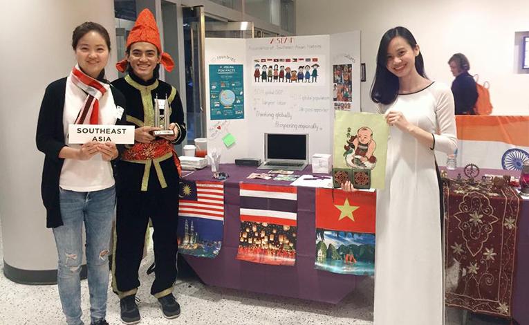 Student Exchange Vietnam staff in a Global Village in New York
