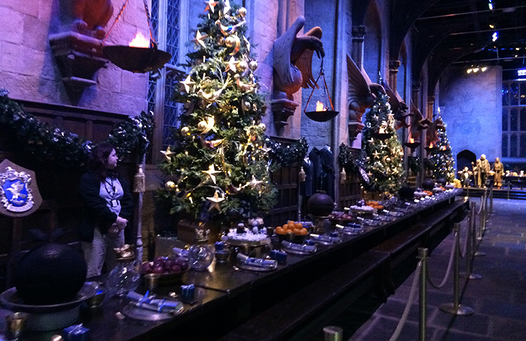Harry Potter film set at Warner Bros. Studios in Leavesden, Hertfordshire, England