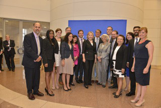 Interns meeting Hillary Clinton at the 2013 Fulbright Event in Washington D.C.