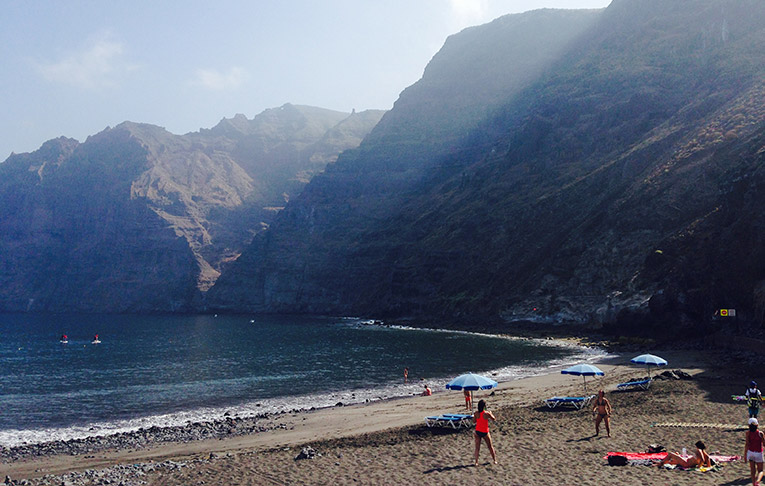 Beach near Los Gigantes, Spain