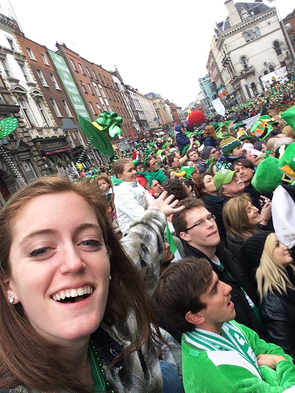 Celebrating St. Patricks Day in Dublin, Ireland