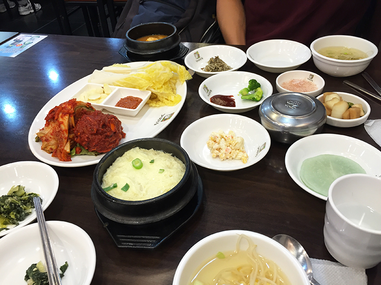 Typical meal in South Korea