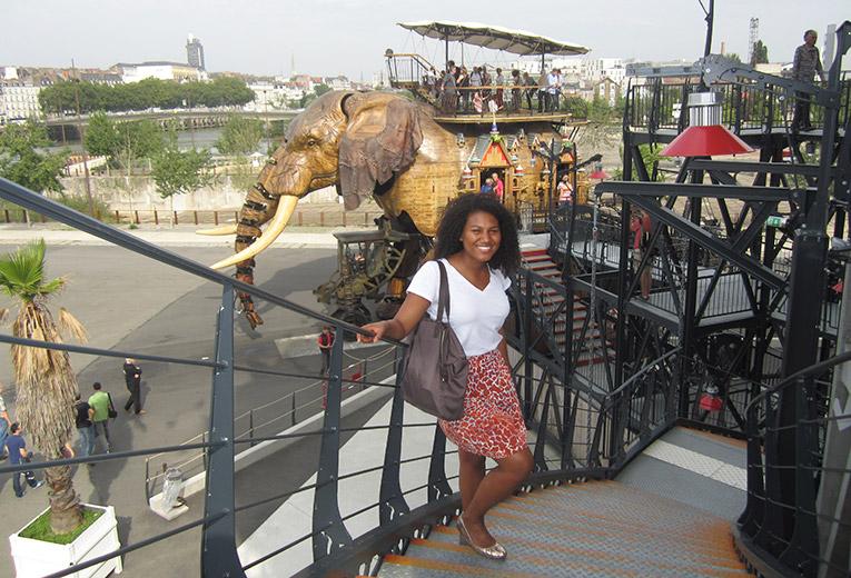 Large mechanical elephant in Nantes