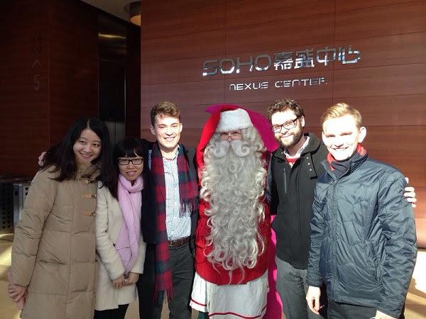 Meeting Santa at Soho, Nexus Center in China