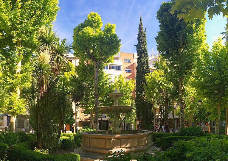 Plaza Trinidad in Granada, Spain