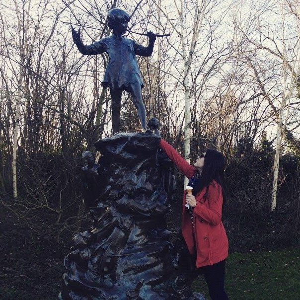 Statue of Peter Pan in Hyde Park, London, England
