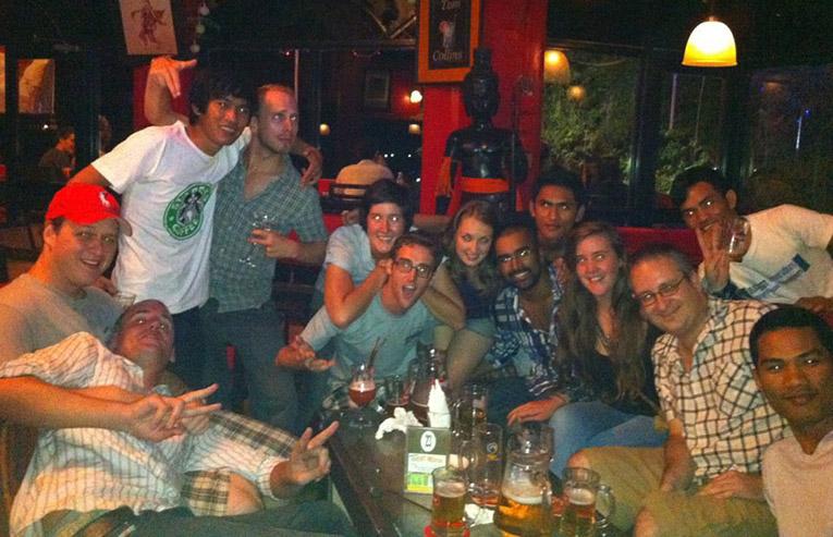 A group of international volunteers in Phnom Penh