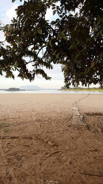 River side beach in Laos