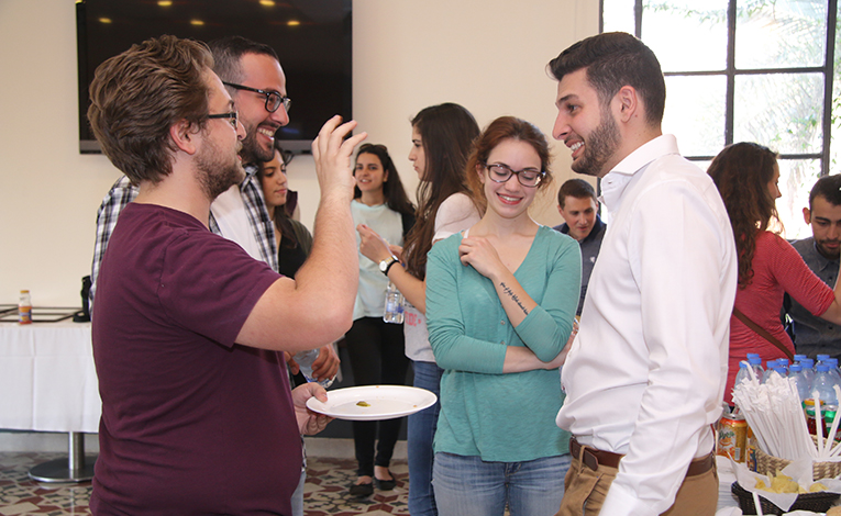 Farewell reception for international students at the American University of Beirut