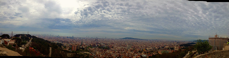 View of Barcelona from the Bunkers