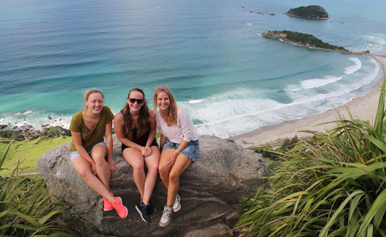 On top of Mount Maunganui in the Bay of Plenty, New Zealand