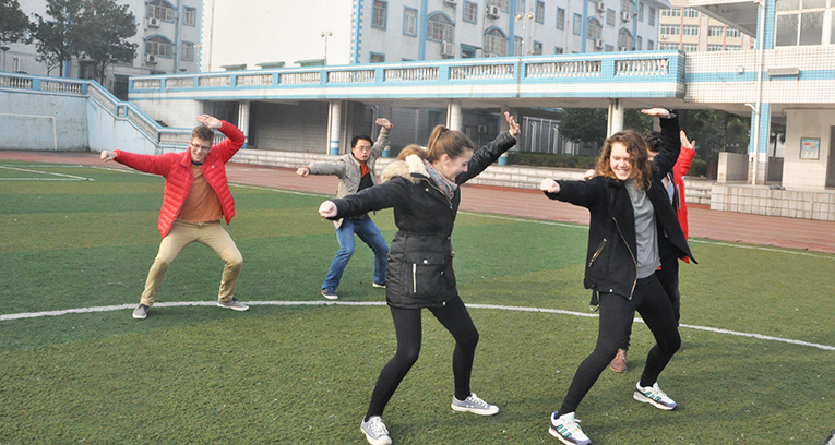 Kungfu lesson in China