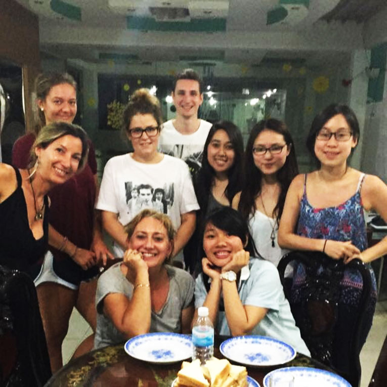 Volunteers at the Idex house in Vietnam