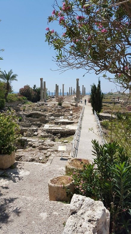 Roman ruins at Tyre, or Sour, in southern Lebanon