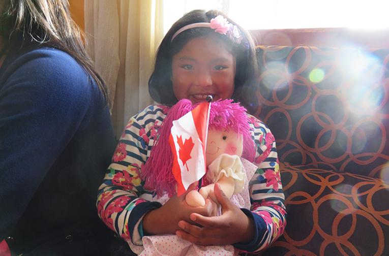 A female Peruvian orphan