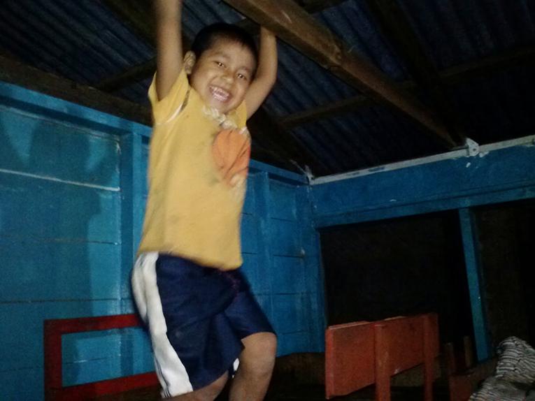 Guatemalan child playing