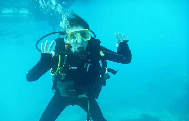 Scuba diving at the Great Barrier Reef, Australia
