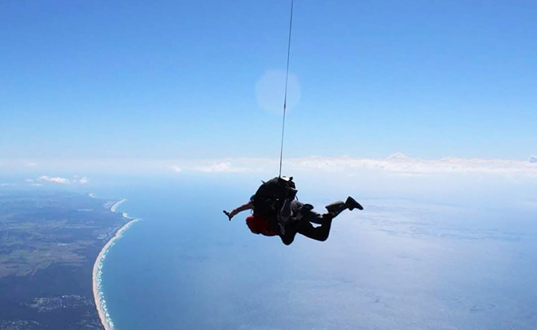 Skydiving over Byron Bay, Australia