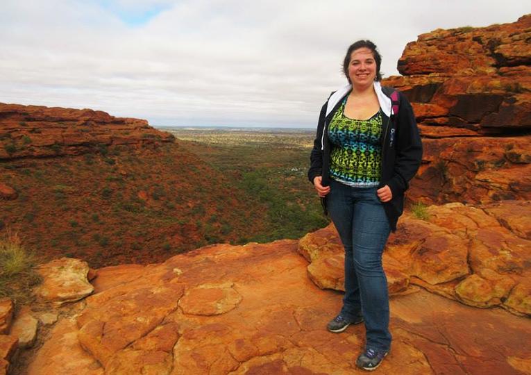Hiking in Kings Canyon in Watarrka National Park, Australia
