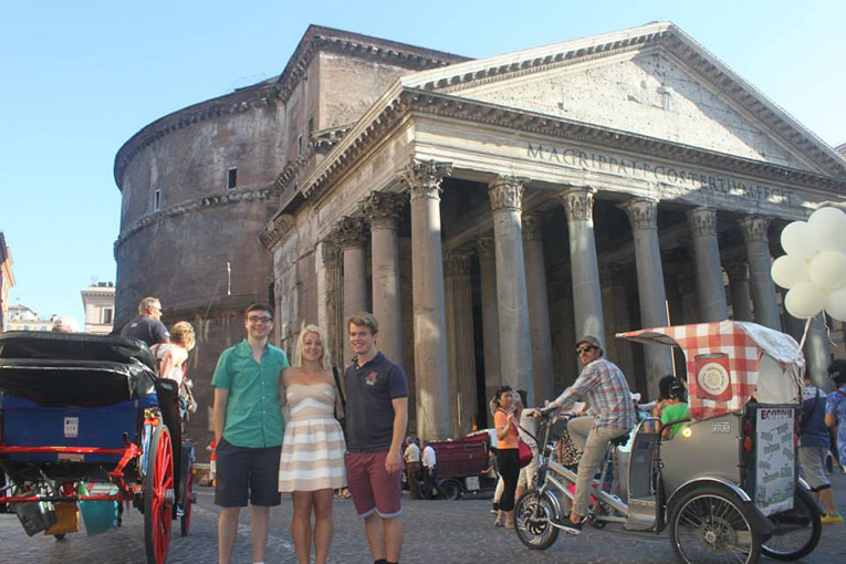 The Pantheon in Rome, Italy