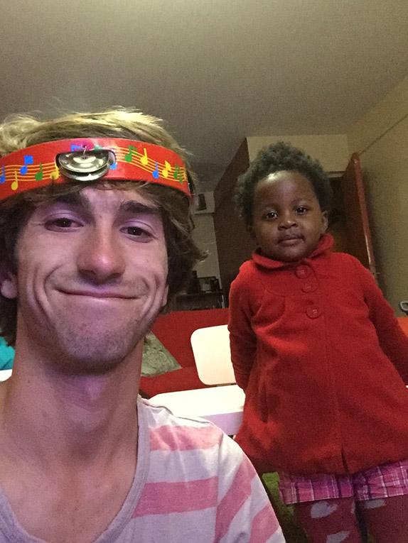 Volunteer in Kenya with local host sister