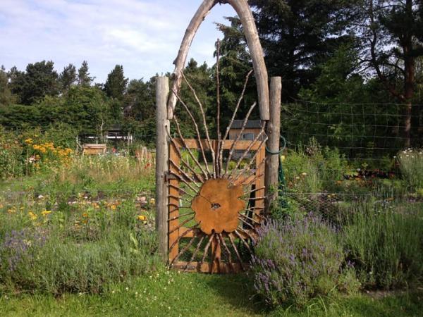 Beautiful flower garden in Findhorn, Scotland