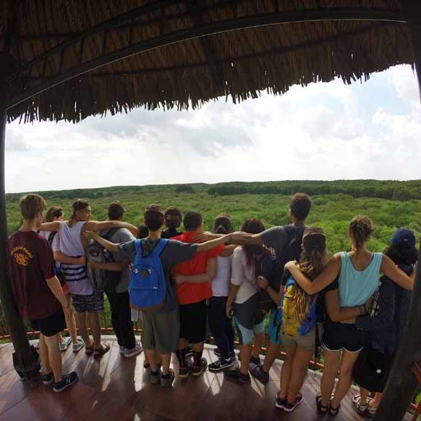 Group photo in Can Gio Forest in Vietnam