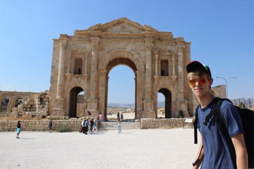 Exploring ancient ruins in Jordan