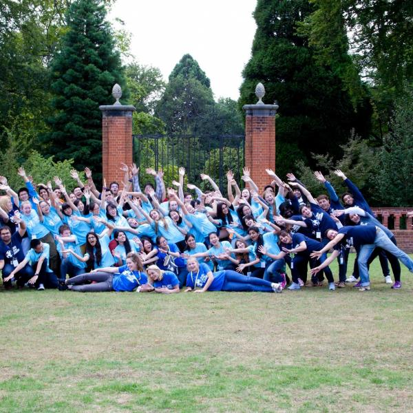 Group photos of students from Global Social Leaders at Wellington College England
