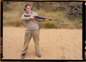 Game Ranger with a rifle