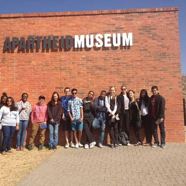 Group visit to Apartheid museum in South Africa