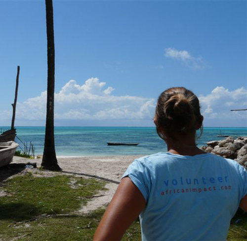 A volunteer in Zanzibar island