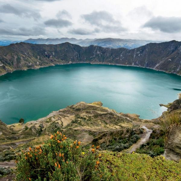 A crater lake in Quito, Ecuador