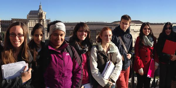 On-site class at Capitoline Hill