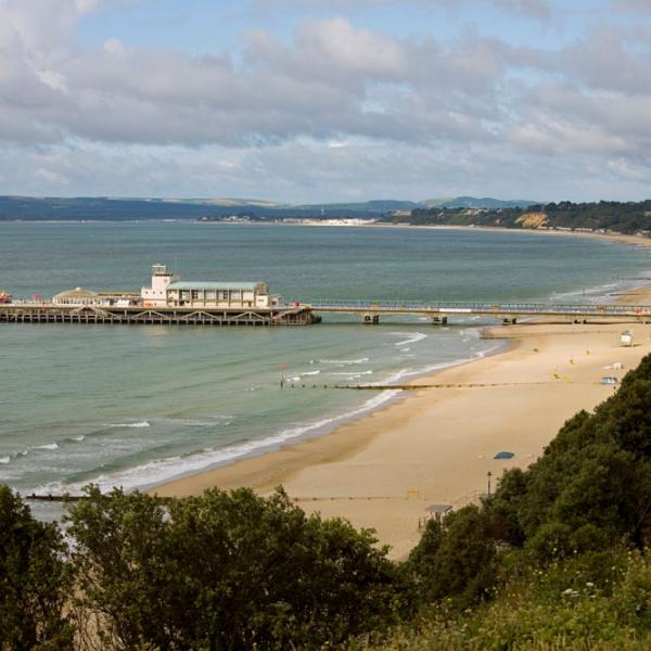 Bournemouth beach with pier