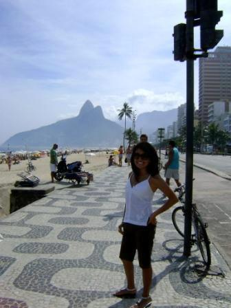 Tourist visiting a park in Brazil