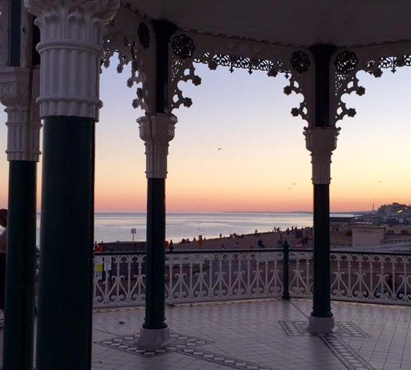 Brighton Bandstand at Sunset